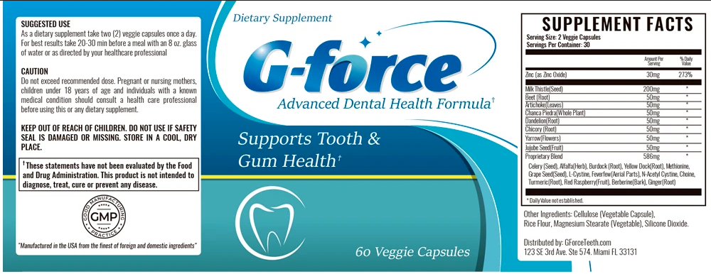 g force supplement facts